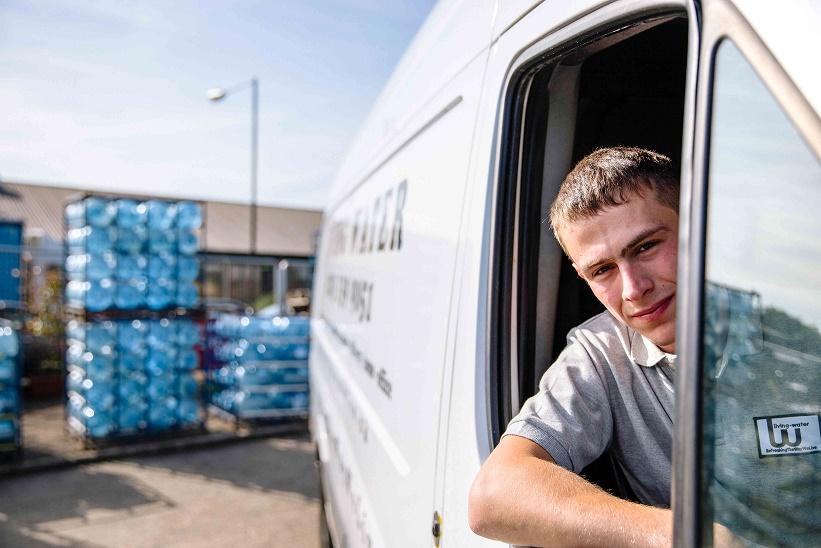 Water Delivery Driver Van