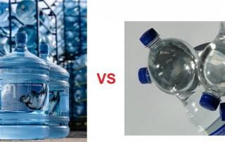 Water Cooler Bottles vs small plastic bottles